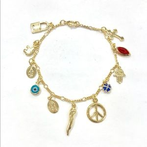 Goldfilled GOOD LUCK CHARMS LADIES BRACELET